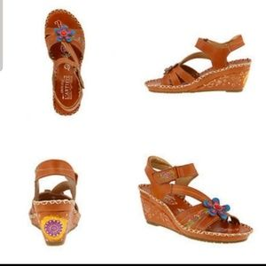 Spring Step L'artiste Purna Camel Leather Sandals